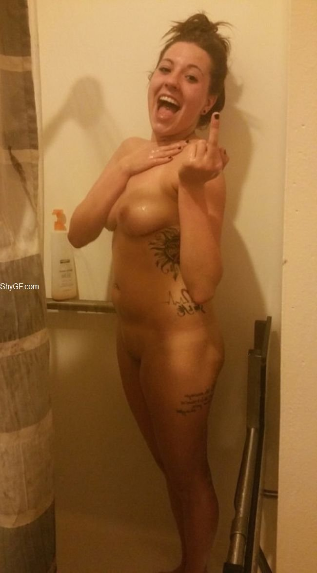 Nude shy wife