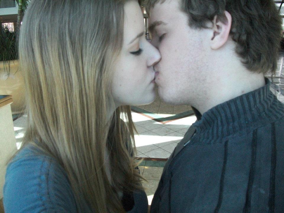 Cheater ex girlfriend kissing lover