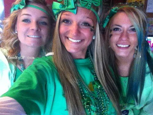 Horny drunk babes celebrate saint patricks day