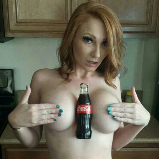 Hold a Coke with your Boobs Challenge - Big Tits Pictures & Videos