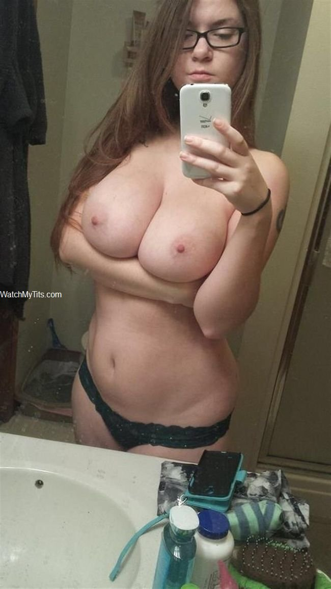 A fat girlfriend with big boobs it means nothing but ugly
