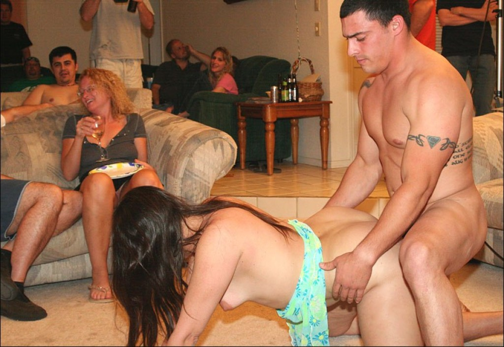 Swinger friends having an orgy at home