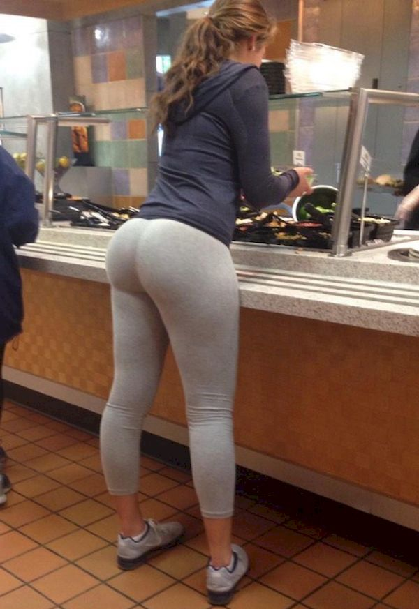 Yoga pants ass job porn