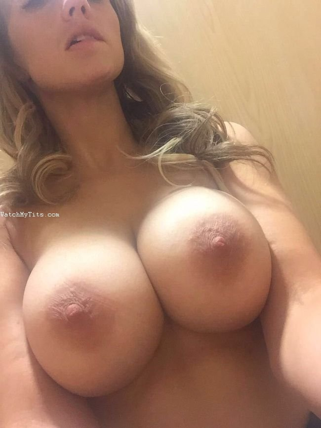 Aussie Wife showing DD boobies